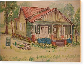 Calvin Baber House Wood Print by Lynn Beazley Blair