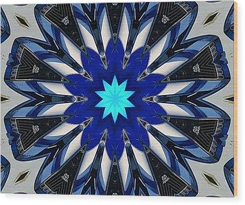 Camaro Kaleidoscope Wood Print by Victor Montgomery