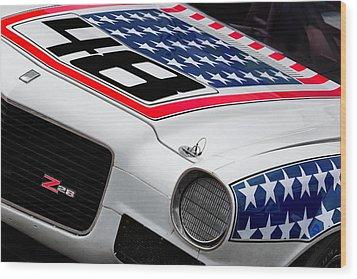 Camaro Z28 Wood Print by Bill Wakeley