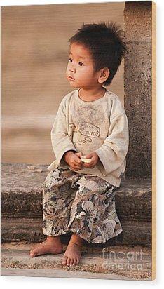 Cambodian Girl 02 Wood Print