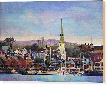 Camden Maine Harbor Wood Print