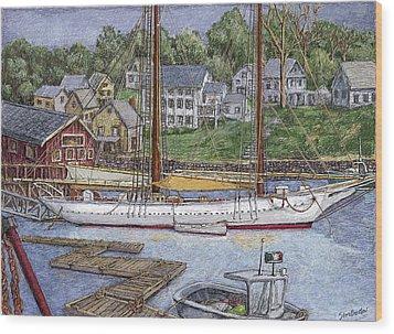 Camden Maine Wood Print