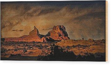 Camelback Canyon Lands Wood Print by Robert Albrecht