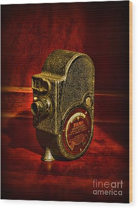 Camera - Bell And Howell Film Camera Wood Print by Paul Ward