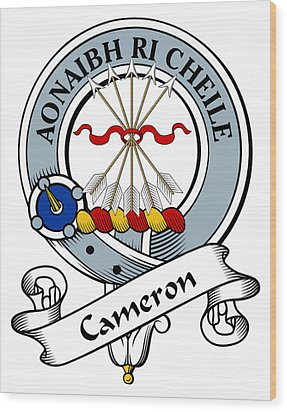 Cameron Clan Badge Wood Print by Heraldry