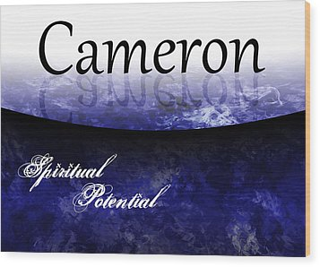 Cameron - Spiritual Potential Wood Print by Christopher Gaston