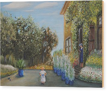 Camille And Jean Monet Wood Print