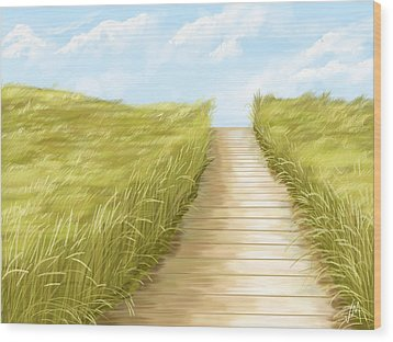 Cammino Wood Print by Veronica Minozzi