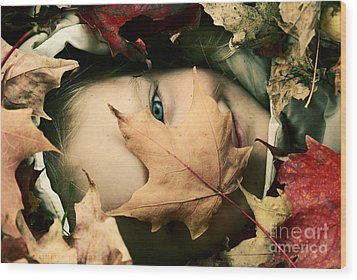 Camouflage Wood Print by Aimelle