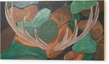 Camouflage Wood Print by Kate McTavish
