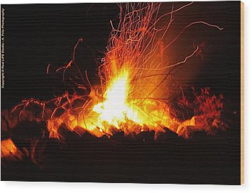 Wood Print featuring the photograph Camp Fire... by Al Fritz