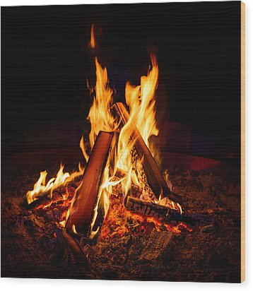Camp Fire Wood Print