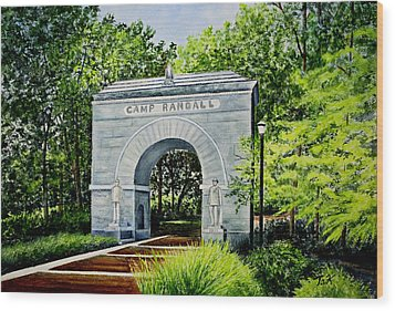 Camp Randall Wood Print by Thomas Kuchenbecker