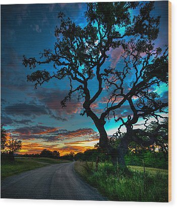 Camp Verde Sunrise Wood Print