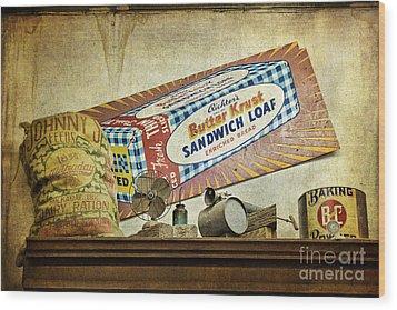 Camp Verde Texas General Store Wood Print by Priscilla Burgers