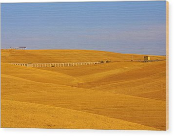 Tarquinia Landscape Campaign With Aqueduct And House Wood Print