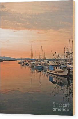 Campbell River Marina Wood Print by Nancy Harrison