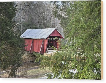 Campbell's Covered Bridge-1 Wood Print by Charles Hite