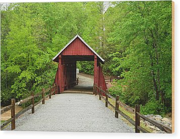 Wood Print featuring the photograph Campbells Covered Bridge by Bob Sample