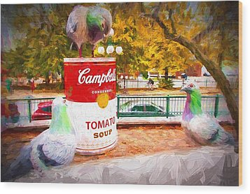 Campbell's Soup Wood Print