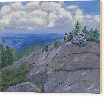 Campers On Mount Percival Wood Print