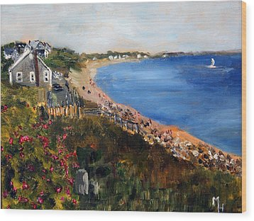 Campground Beach Eastham Wood Print