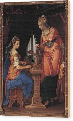 Campi Bernardino, Sts Cecilia Wood Print by Everett