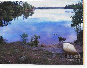 Campsite Serenity Wood Print