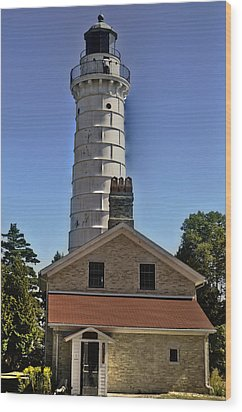 Wood Print featuring the photograph Cana Island Lighthouse by Deborah Klubertanz
