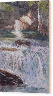 Canada Cascade Wood Print