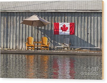 Wood Print featuring the photograph Canada Day In Muskoka by Les Palenik