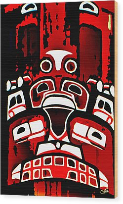 Canada - Inuit Village Totem Wood Print