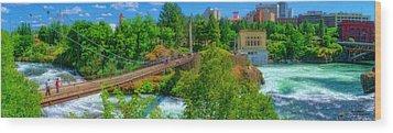 Canada Island Bridge Wood Print by Dan Quam