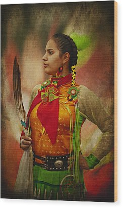Canadian Aboriginal Woman Wood Print