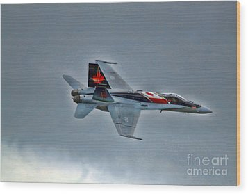 Wood Print featuring the photograph Canadian Cf18 Hornet Fly By by Cathy  Beharriell
