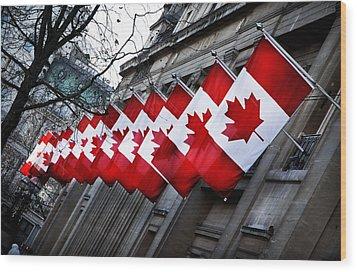 Canadian Embassy London Wood Print by Mark Rogan
