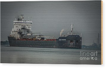 Canadian Enterprise Wood Print by Ronald Grogan