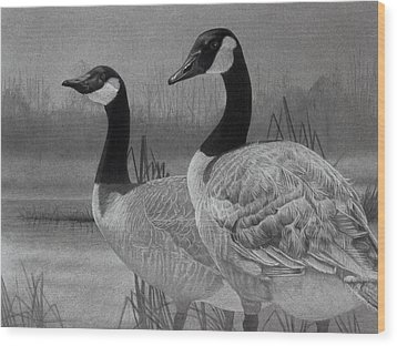 Canadian Geese Wood Print by Tim Dangaran