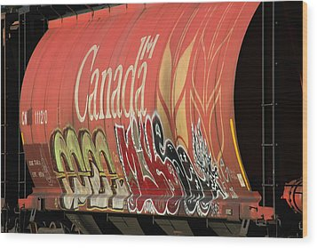 Canadian Graffitti Wood Print