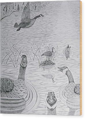 Canadian Greetings Wood Print by Gerald Strine