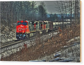 Canadian National Railway Wood Print