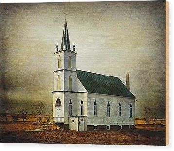 Canadian Prairie Heritage Wood Print by Blair Wainman