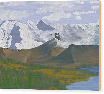 Canadian Rockies Wood Print by Terry Frederick