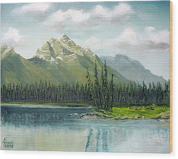 Canadian Rocky Mountains Wood Print