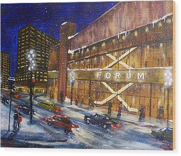 Canadiens Hockey At Montreal Forum Wood Print by Brent Arlitt