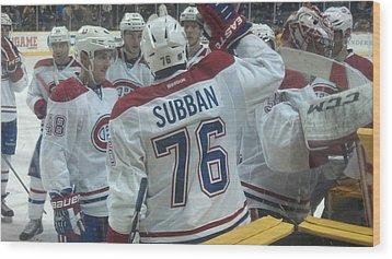 Canadiens Win Wood Print