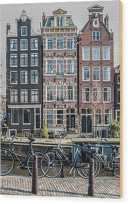 Canal Houses Amsterdam Wood Print