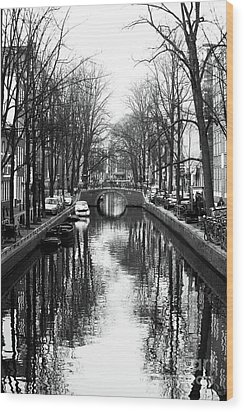 Canal Wood Print by John Rizzuto