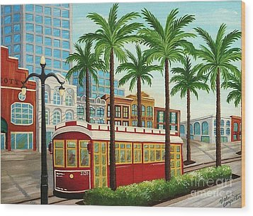 Canal Street Car Line I I Wood Print