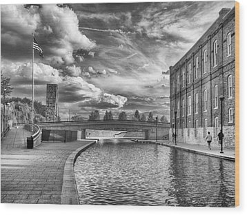 Canal Walk Wood Print by Howard Salmon
